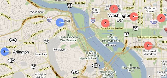 In Washington DC, site maps out food trucks\' current locations ...