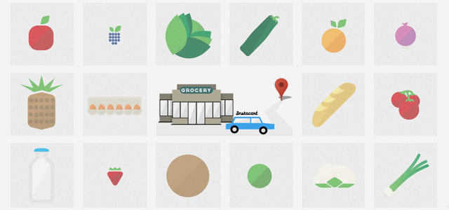Service crowdsources items from multiple grocers to deliver in under