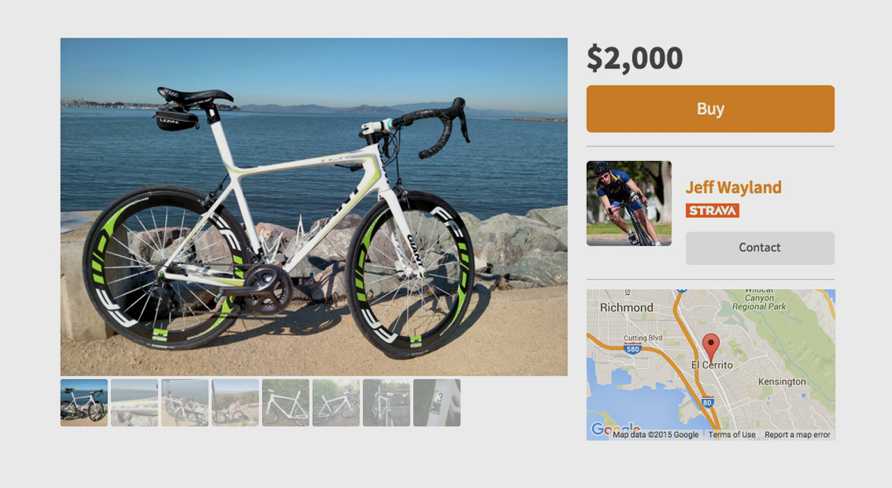 Bicycle thieves are not welcome at this online marketplace