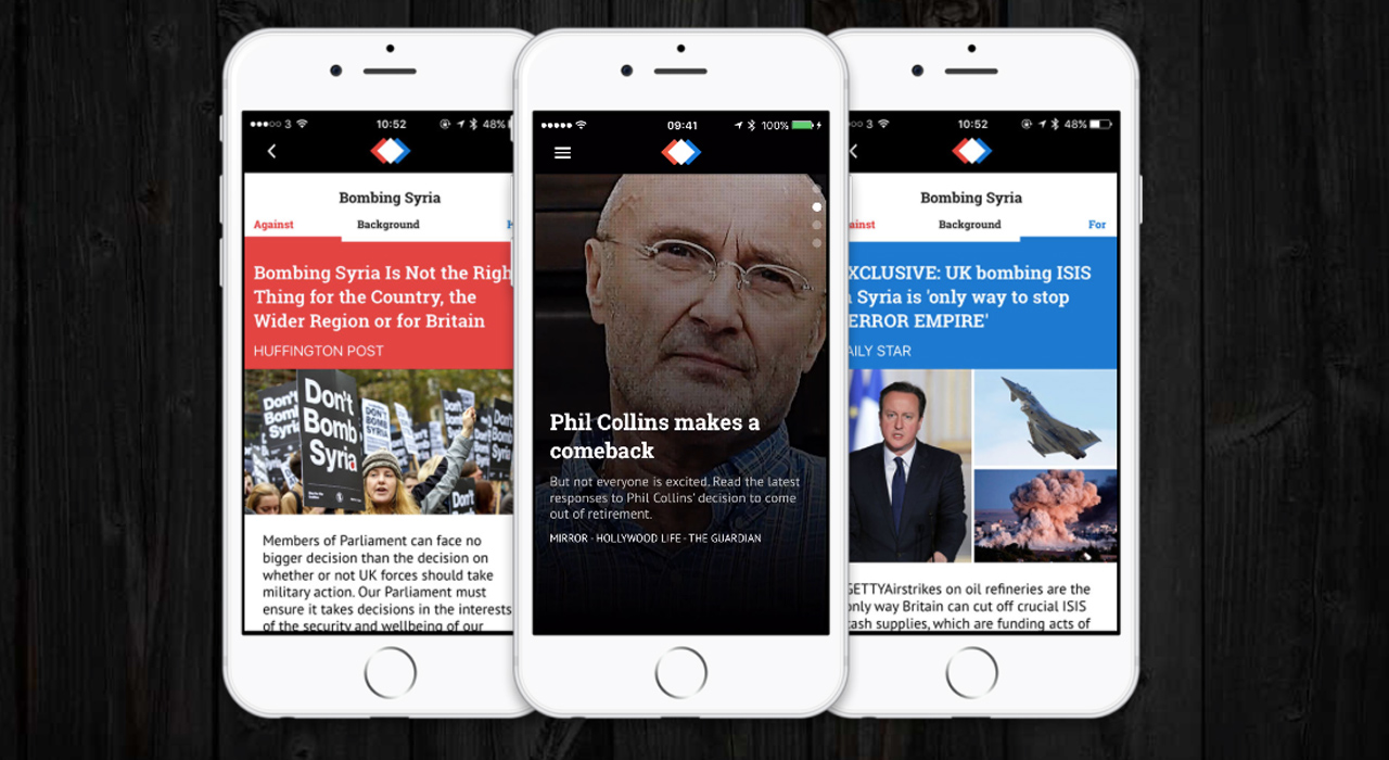 News app provides three sides to every story - Springwise
