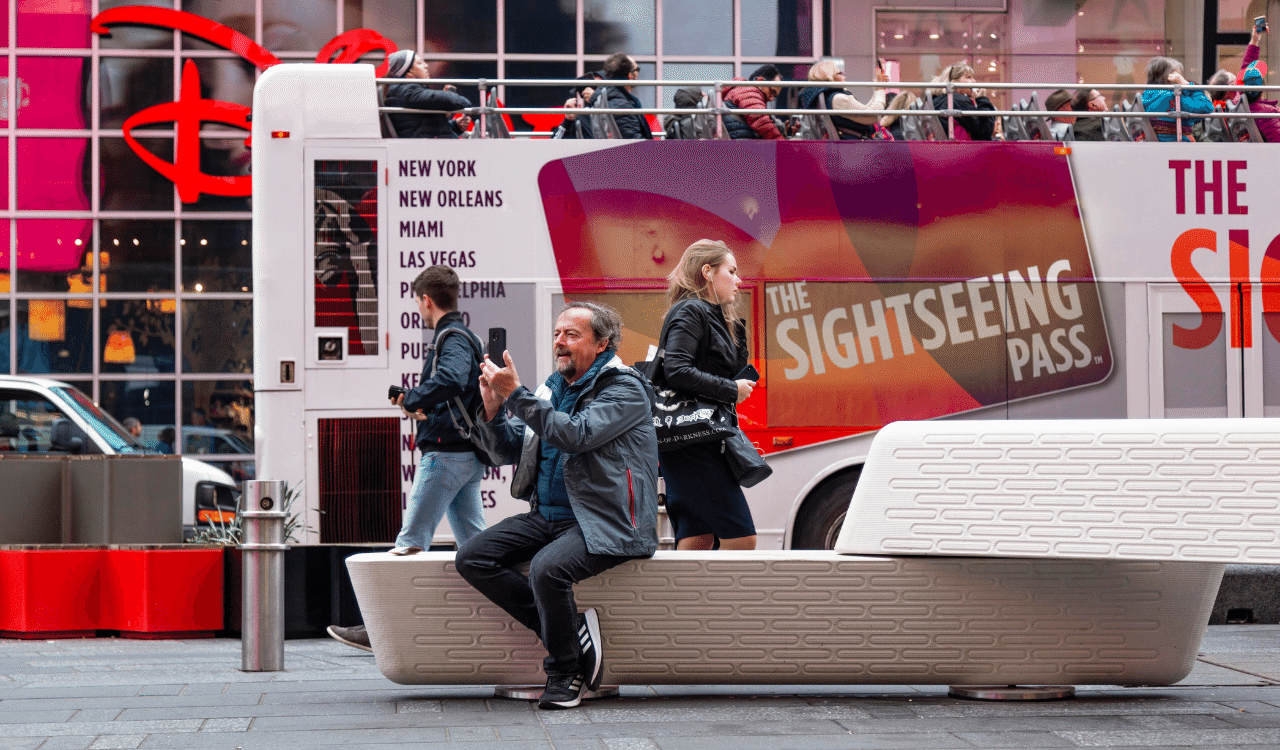3D-printed benches protect pedestrians from vehicular attacks