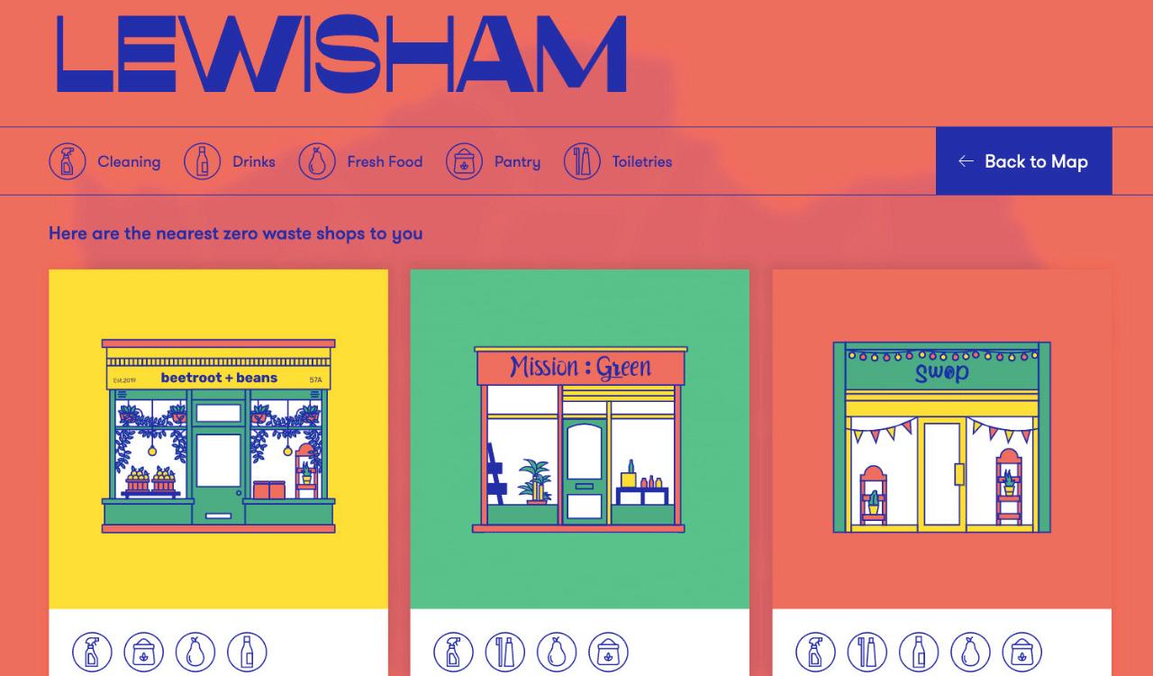 Website maps London's zero-waste shops
