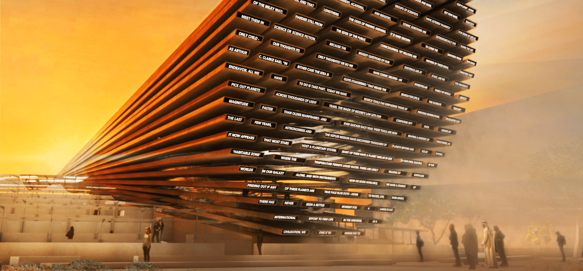 uk pavilion for expo 2020 dubai to send message to space