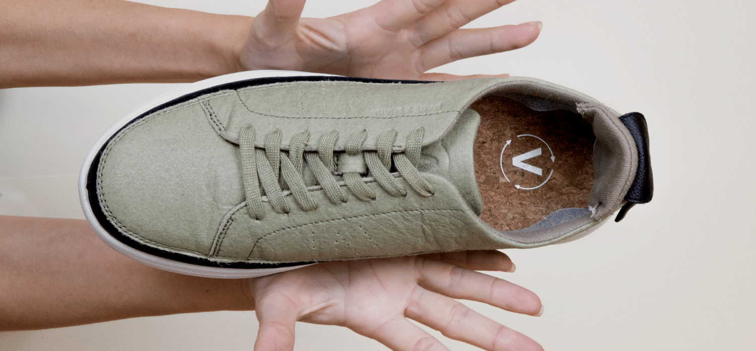 Eco-friendly shoes with reusable soles