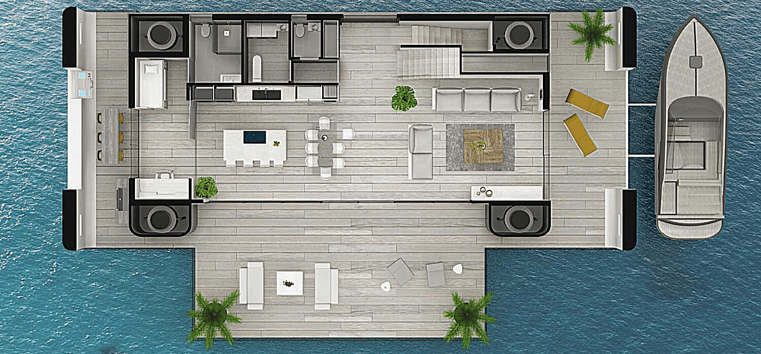 Future-proof living with a self-sufficient floating house - Springwise