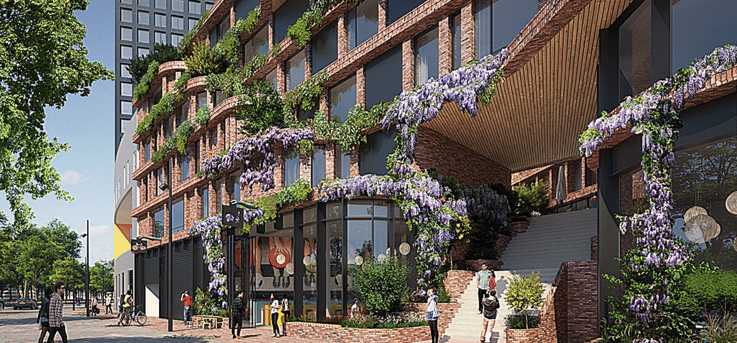 Multi-use, sustainable high-rise connects Amsterdam neighbourhoods -  Springwise