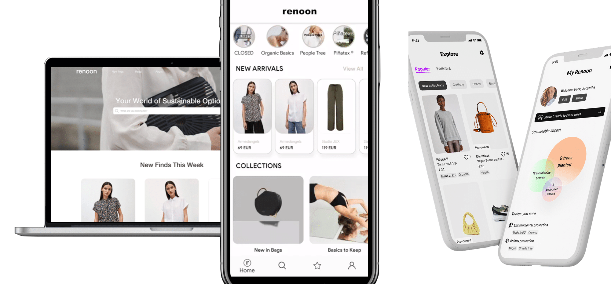 A search engine for sustainable fashion