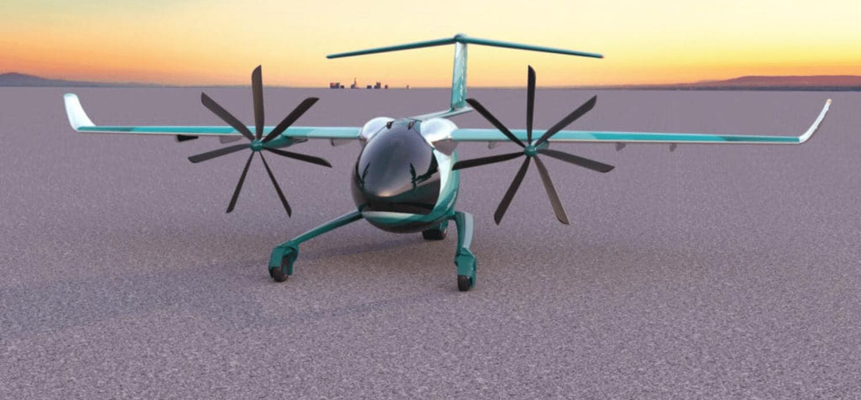 Electric plane uses novel short take-off system