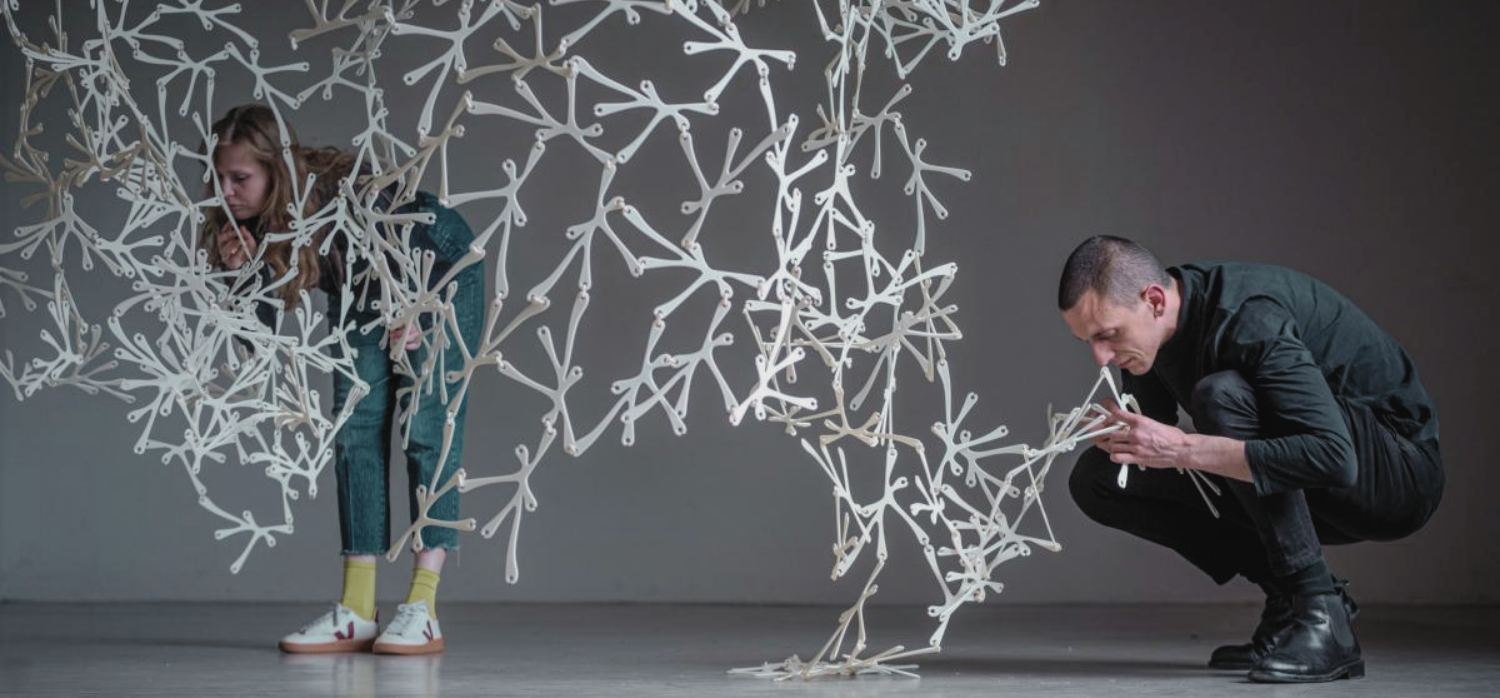 A scented room divider made from 3D-printed bioplastic